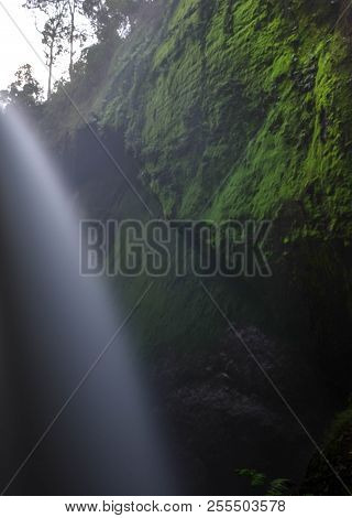 Blawan Waterfall Located In Kalianyar Village, Sempol District Of East Java, Indonesia. One Of The W