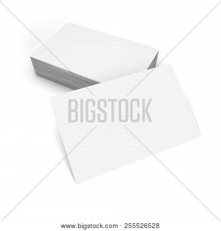 Business Cards Isolated On White. 3d Rendering