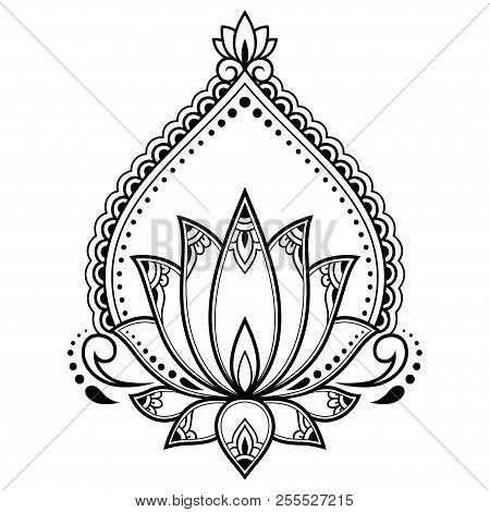 Mehndi lotus flower vector photo free trial bigstock mehndi lotus flower pattern for henna drawing and tattoo decoration mandala in ethnic oriental mightylinksfo