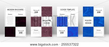 Abstract Cover. Posh Design Template. Suminagashi Marble Business Poster. Posh Trendy Abstract Cover