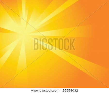Shiny Orange Background with Beams