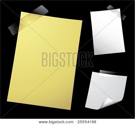 Various vector note paper for text
