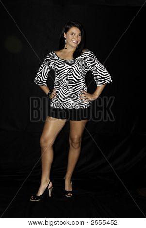 Beautiful Brunette Standing