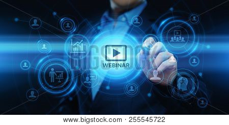 Webinar E-learning Training Business Internet Technology Concept.
