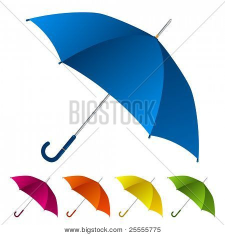 Umbrellas set