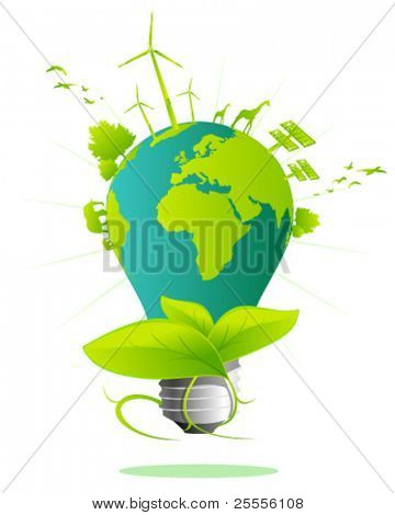 Erde Glühbirne