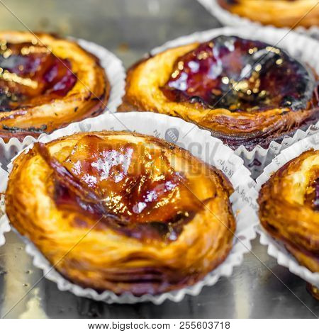 Madrid, Spain - August 27, 2017: Traditional Portuguese Pastry Called