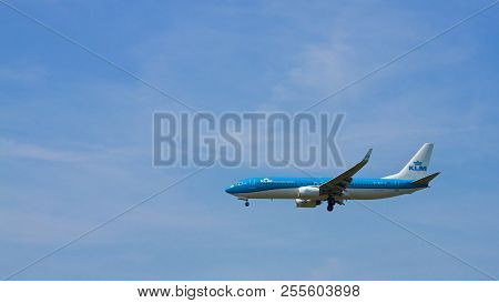 Budapest, Hungary - June 11, 2018; Klm Royal Dutch Airlines Boeing 737-8k2 With The Registration Ph-