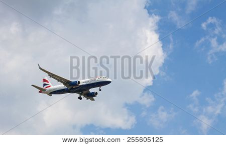 Budapest Liszt Ferenc, Hungary - June 11, 2018: A British Airways Airbus A320-232 With The Registrat