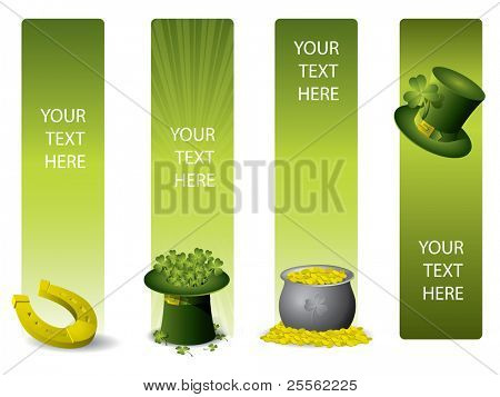 Set of vector banners for St. Patrick`s day