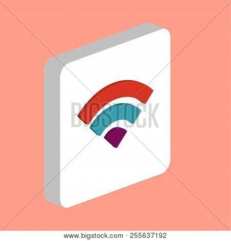 Wifi Simple Vector Icon. Illustration Symbol Design Template For Web Mobile Ui Element. Perfect Colo