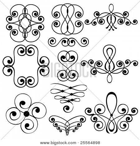 Dekorative Elemente, Vektor, Ornament, Windung