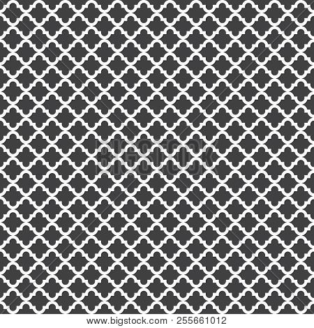 Vector Silhouette Ethnic Pattern. Simple Monochrome Geometric Background. Square Pattern. Decor Patt