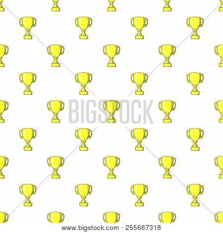Trophy Pattern. Cartoon Illustration Of Trophy Pattern For Web
