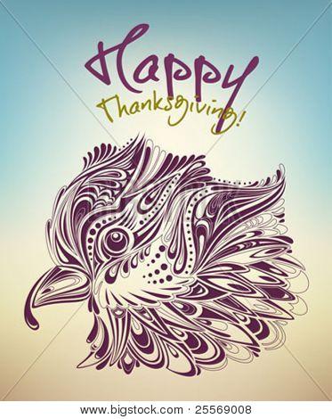 thanksgiving turkey creative card