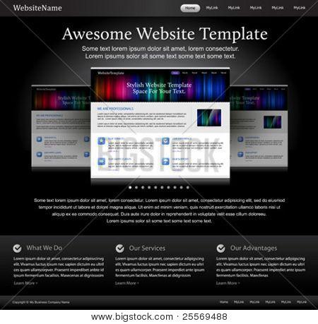black stylish website template for designers