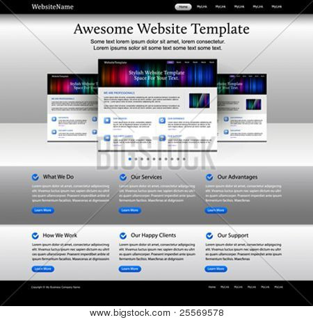 Web design website elements - bright template
