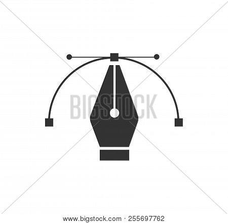 Pen Tool Cursor. Vector Computer Graphics. Logo For Designer Or Illustrator. Design Icon. The Curve