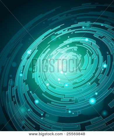 Awesome futuristic background   - Raster version