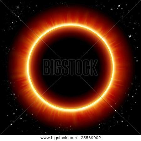 Eclipse ruimte achtergrond - JPG versie