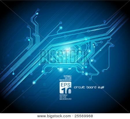circuit board eye conceptual background