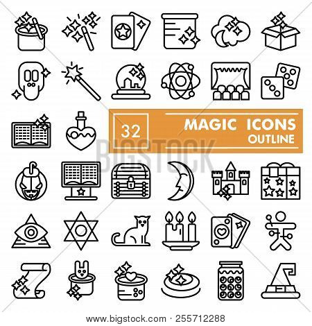Magic Line Icon Set Vector Photo Free Trial Bigstock