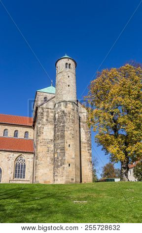 Side Tower Of The Michaeliskirche Church In Hildesheim, Germany