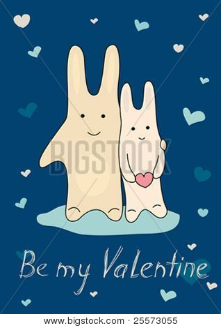 Congratulatory card on Valentine day