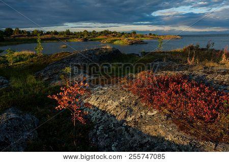 Beautiful Landscape In Rabocheostrovsk, Karelia At Summer.