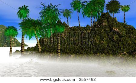 Island High End  With Fog