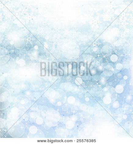 Abstract Winter background.Christmas abstract bokeh. Vector