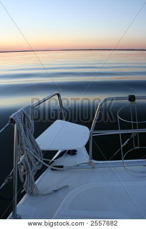 Boat Overtaking Waves