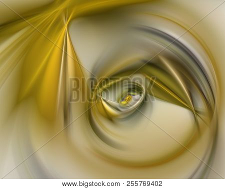 An Abstract Computer Generated Modern Fractal Design On Gray Background. Abstract Fractal Color Text
