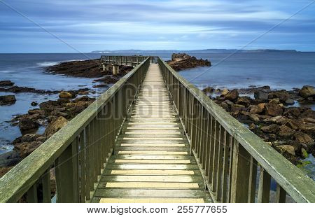 A View Across Pans Rocks Jetty, Northern Ireland.