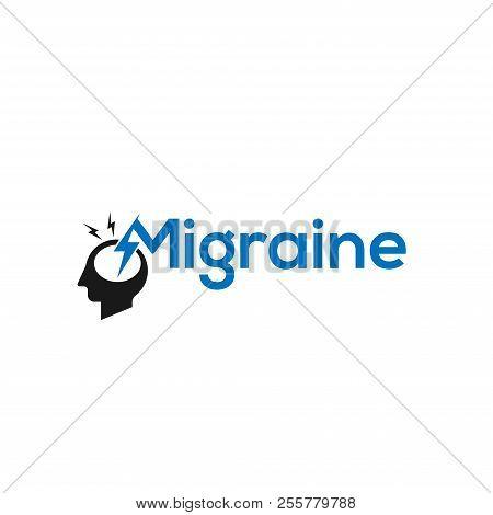 Migraine. Migraine icon Vector. Migraine symbol. Migraine Logo vector. Migraine sign. Migraine concept vector. Migraine Logo design. Migraine illustration. Migraine Headache. Migraine icon logo vector illustration isolated on white background.