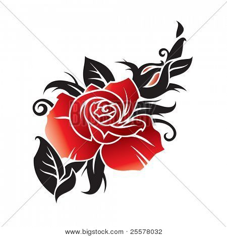 vector graphic of rose