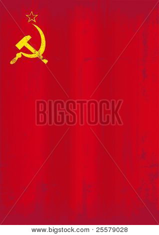 Soviet union grunge flag. A dirty soviet flag for a background. You can easly take off the texture.