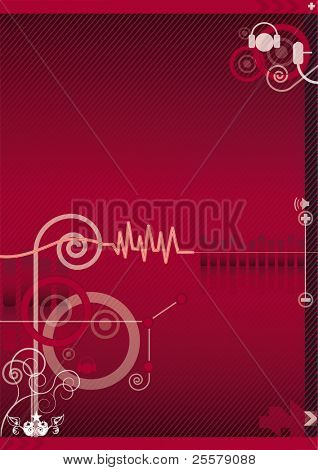 Music background An abstract music background