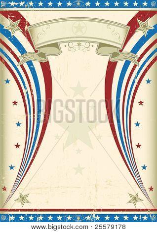 Fondo Grunge U.S. vintage cartel A Estados Unidos en vintage para tu publicidad