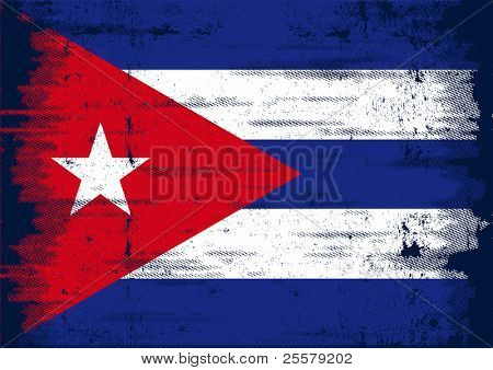 Cuban grunge flag A grunge flag of Cuba with a texture poster