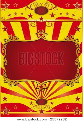 Poster frame circus. Circus background with a red frame for your circus show.