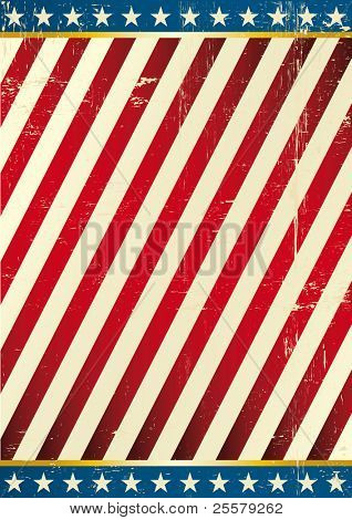 Flag of America . Dirty Background on US theme