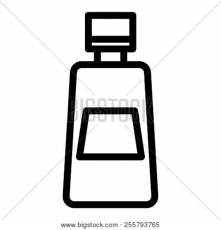 Ketchup Bottle Line Icon. Tomato Ketchup Vector Illustration Isolated On White. Bottle Of Catsup Out