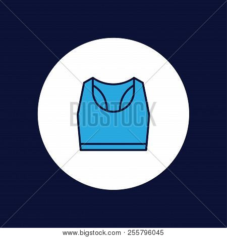Sports Women S T-shirt. Sports Clothes. Woman Clothes Single Icon In Black Style Vector Symbol Stock