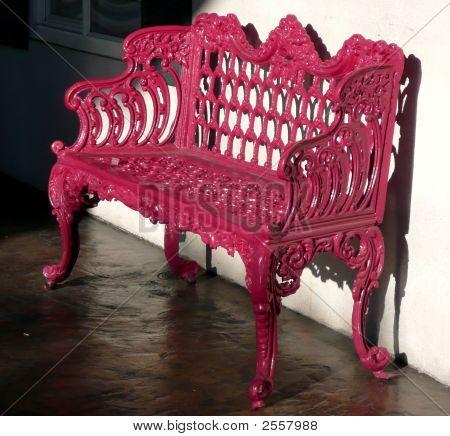 Ornate Pink Bench