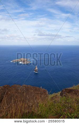 Motu Nui Islet Near Easter Island