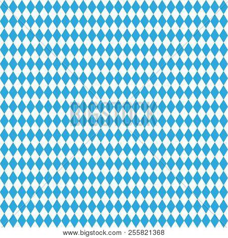 Oktoberfest Blue Abstract Geometric Background. October Festival. Vector Illustration, Blue Color. S