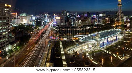 Nagoya, Japan - June 10, 2016: Oasis 21 In Nagoya, Japan On June 10, 2016. A Shopping Complex Nearby