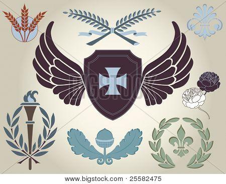 Crest and heraldry, design elements