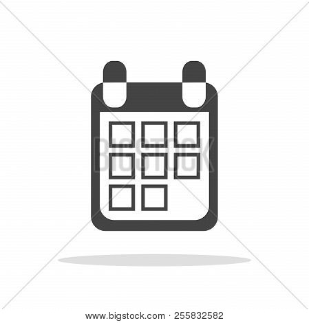 Calendar Icon On White Background, Vector Illustration. Flat Sty . Business Abstract Pictogram.